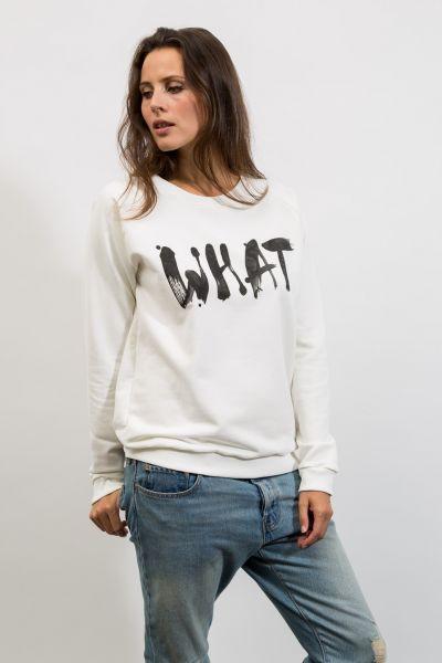 mmies Unisex Sweatshirt weiß WHAT