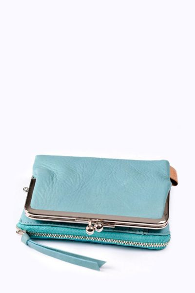 Baggy Port LKYP Tri-fold-purse blue