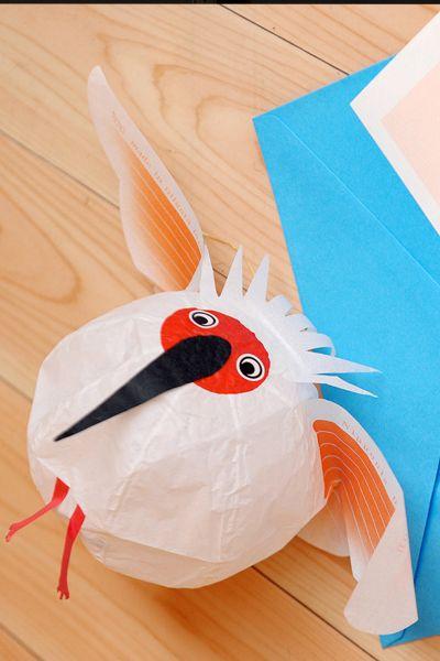 Papier Ballon Kranich