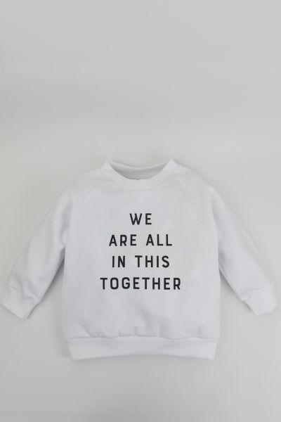 mmies Kids Sweatshirt Together weiß