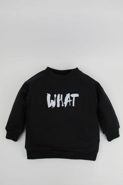 mmies Kids Sweatshirt WHAT schwarz