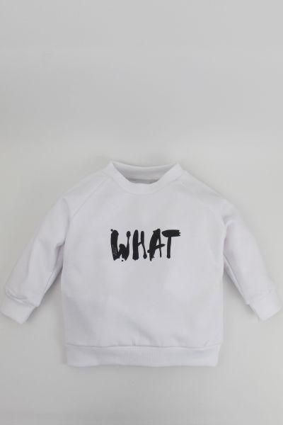mmies Kids Sweatshirt WHAT weiß