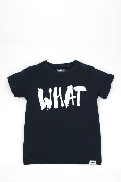 mmies Kids T-Shirt WHAT navy
