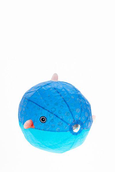 Papierballon Kugelfisch blau