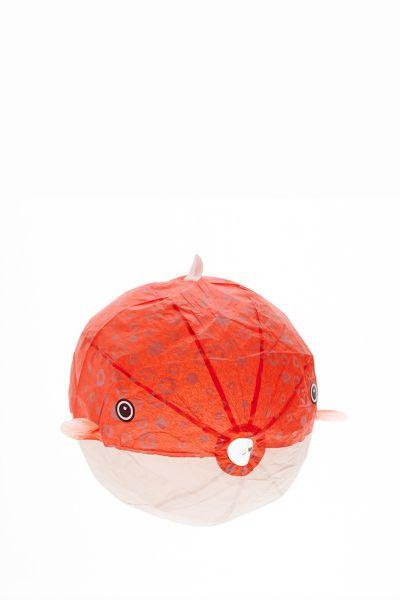 Papierballon Kugelfisch rot