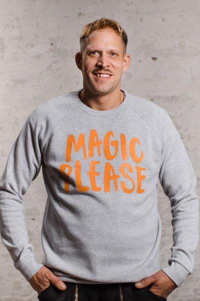 mmies Unisex Sweatshirt MAGIC grau/orange