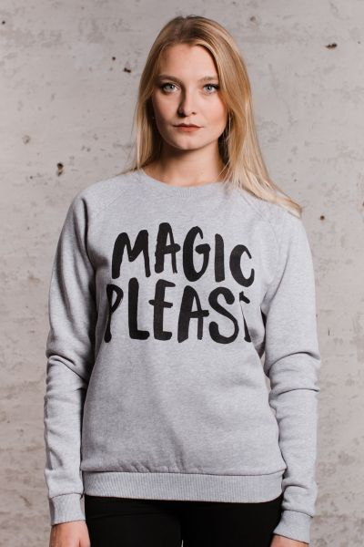 mmies Unisex Sweatshirt MAGIC grau/schwarz